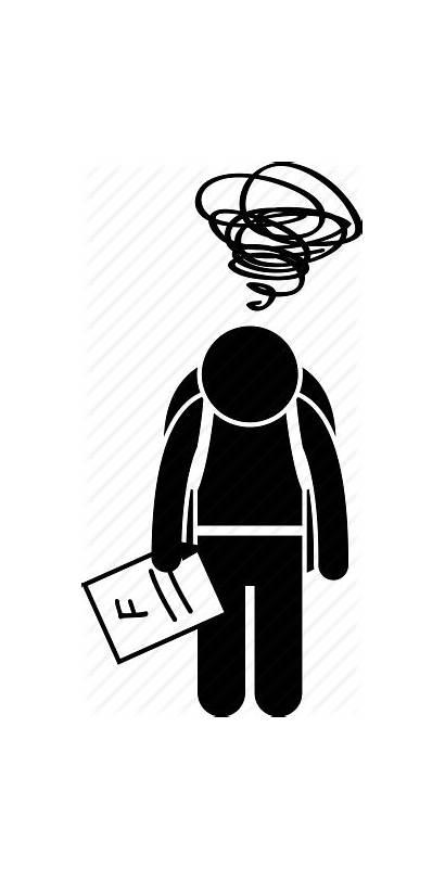 Exam Fail Failure Icon Examination Grade Icons