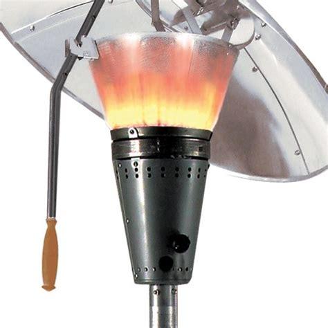 heat focus hourglass gas patio heater