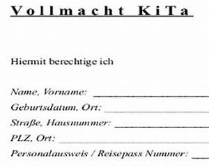 Einverständniserklärung Reise Kind Muster : vollmacht f r kita kostenlos herunterladen ~ Themetempest.com Abrechnung