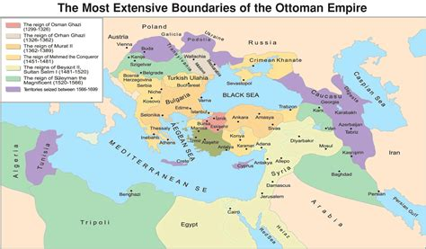 Ottoman Empire At Its Peak by Ottoman Empire Map Timeline Greatest Extent Facts