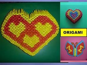 Herz Aus Papier Basteln : diy origami 3d herz basteln mit papier mother s day gift ~ Lizthompson.info Haus und Dekorationen