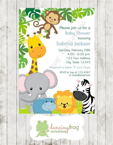 boy  girl wild animals jungle safari baby shower