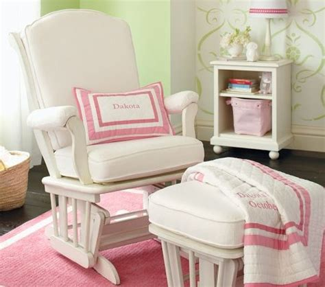 pottery barn glider sleigh glider ottoman to rock baby to sleep in