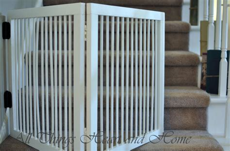 diy baby gate  stairs   heart  home