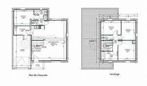 maison toit plat etage images With plan maison toit plat 120m2