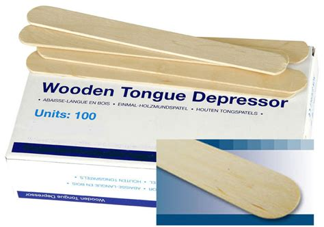 UHS Wooden Tongue Depressors in box of 100 by gloves4less ...