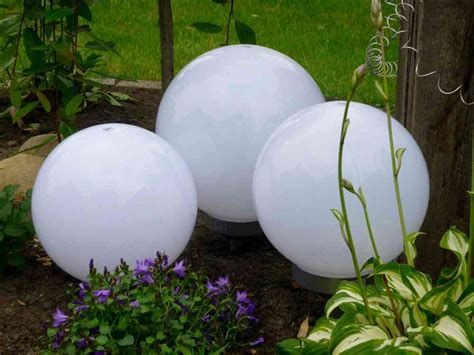 Solar Led Kugelleuchte 3erset 30,25,25 Cm Gartenkugel