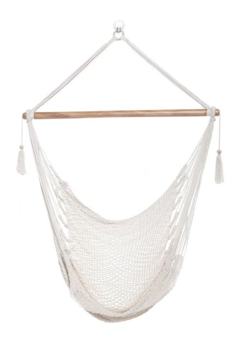 Cotton Hammock Chair by Hanging Hammock Chair Organic Cotton Bright White