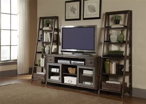 Decorating Ideas For Entertainment Center Shelves by Leaning Bookshelf Entertainment Center Avignon