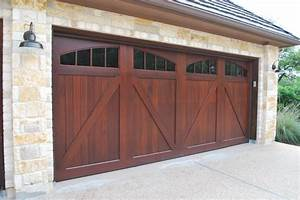Sapele mahogany carriage house garage doors craftsman for Carriage style garage doors for sale