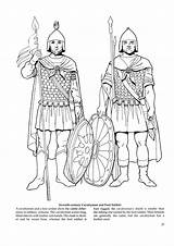 Coloring Pages Byzantine Medieval Empire Printables Roman Army Fashions Ancient Rome Soldiers Kid Middle Ages Military Costume Soldier Colouring Drawings sketch template