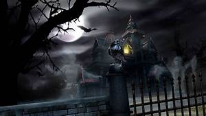 HALLOWEEN dark haunted house spooky wallpaper