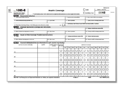 health insurance form 1095 b aca form 1095 b for health coverage