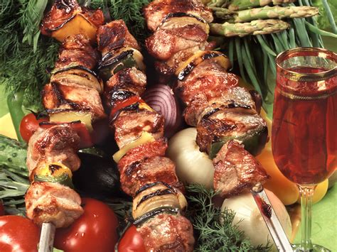 cuisine barbecue wine shashlik wallpapers and images wallpapers pictures