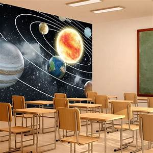 Space Wall Mural Planets Solar System Photo Wallpaper Kids ...