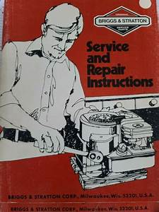 Vintage Briggs  U0026 Stratton Service And Repair Instructions