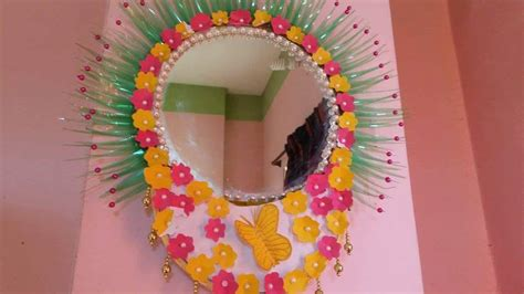 wall hanging  mirror frame simple craft
