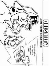 Coloring Fire Safety Pages Printable Educational Recommended Mycoloring sketch template