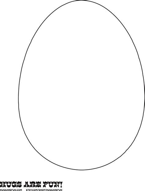 Easter Egg Template Sle Easter Egg Template Free
