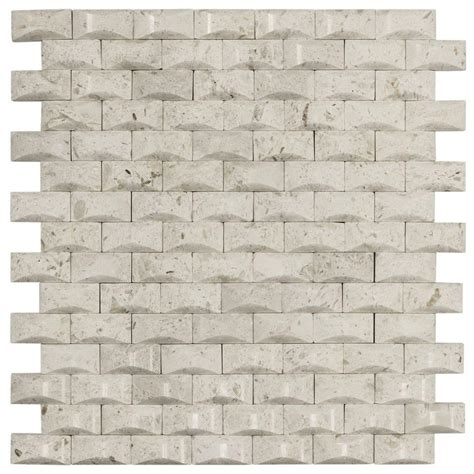 home depot wall tile sheets jeffrey court cotton bales 11 125 in x 11 875 in x 8 mm