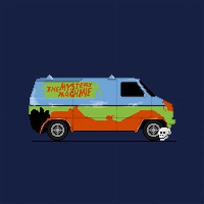 Scooby Doo Van Chevy Cars Pixel Bit