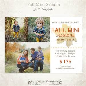 photo albums 5x7 fall mini session template for photographers