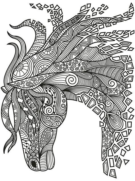 beautiful zentangle horse colorish coloring book app  adults mandala relax  goodsoftte
