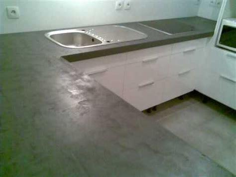 beton ciré cuisine plan travail plan de travail en béton ciré