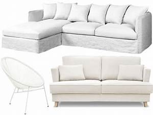 Fauteuil Et Canapé : canap blanc et fauteuil blanc 25 mod les prix doux joli place ~ Teatrodelosmanantiales.com Idées de Décoration