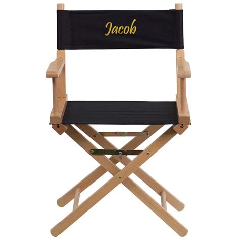personalized directors chairs cheap black beechwood fabric personalized standard height