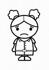 Coloring Sad Popular sketch template