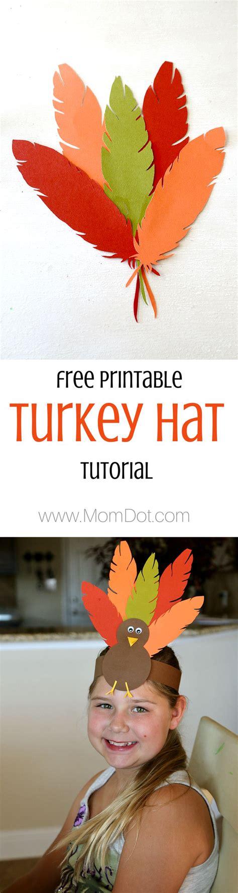turkey hat thanksgiving headband craft  kids