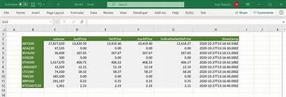 Excel Prices Crypto Bitmex Author
