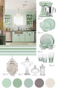 Seafoam Green Color Kitchen