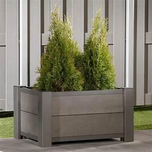 brugmann pflanzkasten system wpc anthrazit 72 x 52 cm With französischer balkon mit gartenzaun metall doppelstab gitterzaun