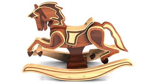 wood toy plans antique  carousel rocking horse youtube