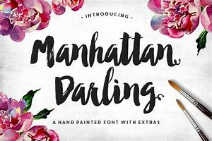 10 modern brush lettered fonts you39ll love With paint brush lettering
