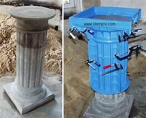 Faire Un Moule Pour Béton : colonne en beton dikke houten balken ~ Melissatoandfro.com Idées de Décoration