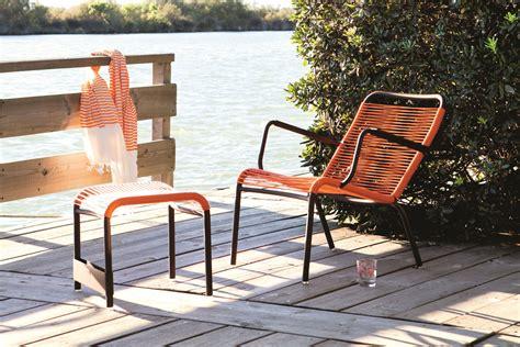 chaise en fil plastique mobilier de jardin la déco sur le fil détente jardin