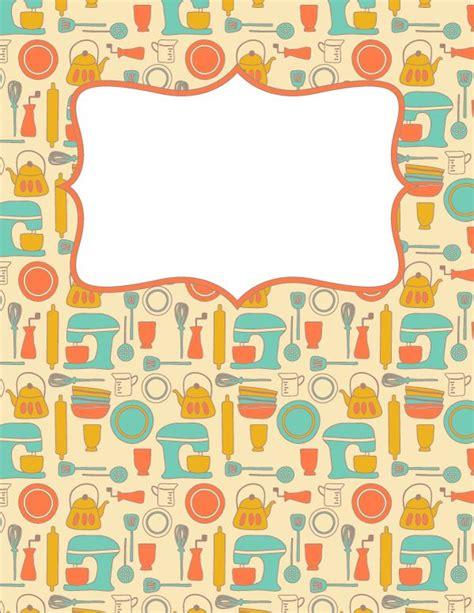 printable recipe binder cover template