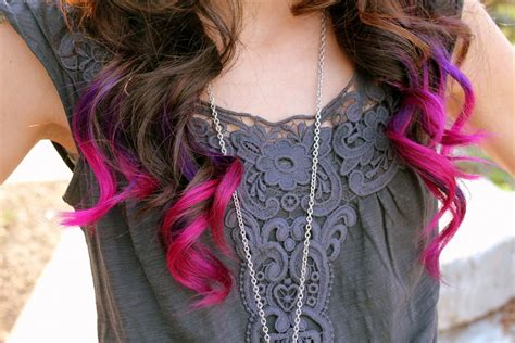 Brown Hair With Pink And Purple Ends I Would Love To