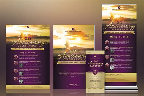 christian anniversary cards template inspiks market creative church marketplace flyers