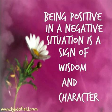 positive   negative situation   sign  wisdom