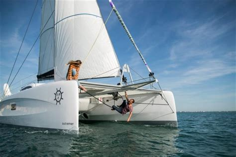 Sailing La Vagabonde New Boat by Outremer 45 Syndicate Announced At Packed Sailing La