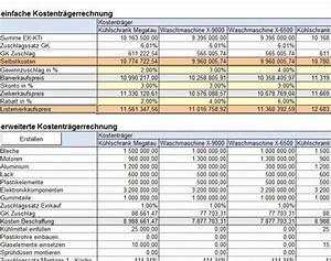 Budget Rechnung : excel vorlage f r kostenrechnung klr mit deckungsbeitragsrechnung ~ Themetempest.com Abrechnung