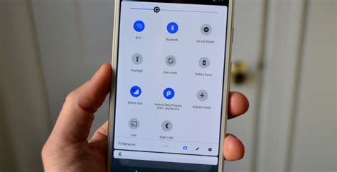 android ps quick settings menu interface    design