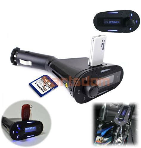 fm transmitter auto car kit mp3 player wireless fm transmitter modulator usb sd mmc lcd with remote ebay