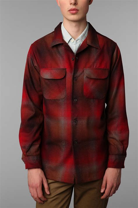 Lyst - Urban Outfitters Pendleton Board Shirt in Red for Men