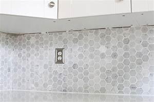 How to Install a Marble Hexagon Tile Backsplash - Just a