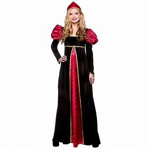 Medieval Queen Ladies Fancy Dress Womens Historical ...
